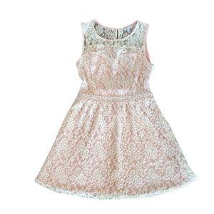 Delia's Sweetheart Lace Overlay Tie Back Dress